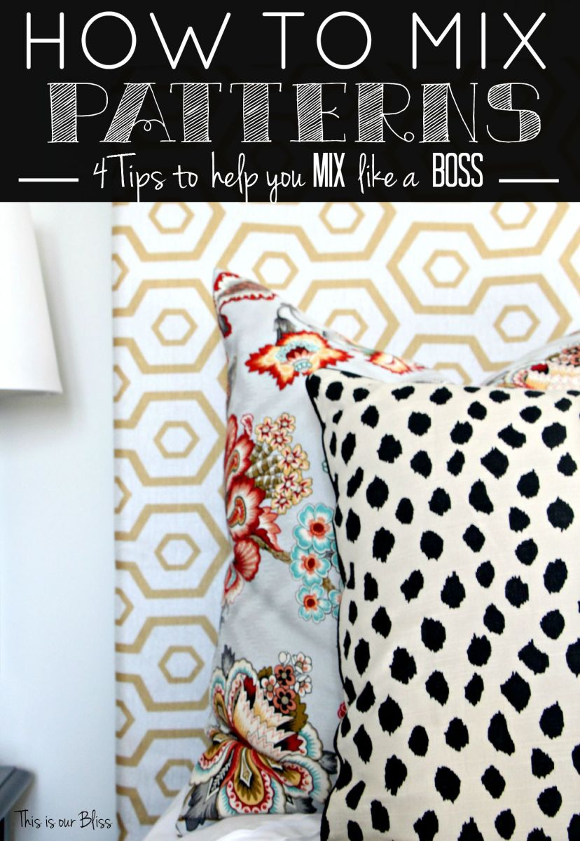 How to Mix Patterns   Back to Basics Week #2