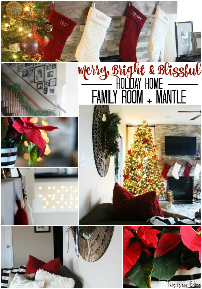 merry bright and blissful holiday home - warm and cozy family room - thisisourbliss.com