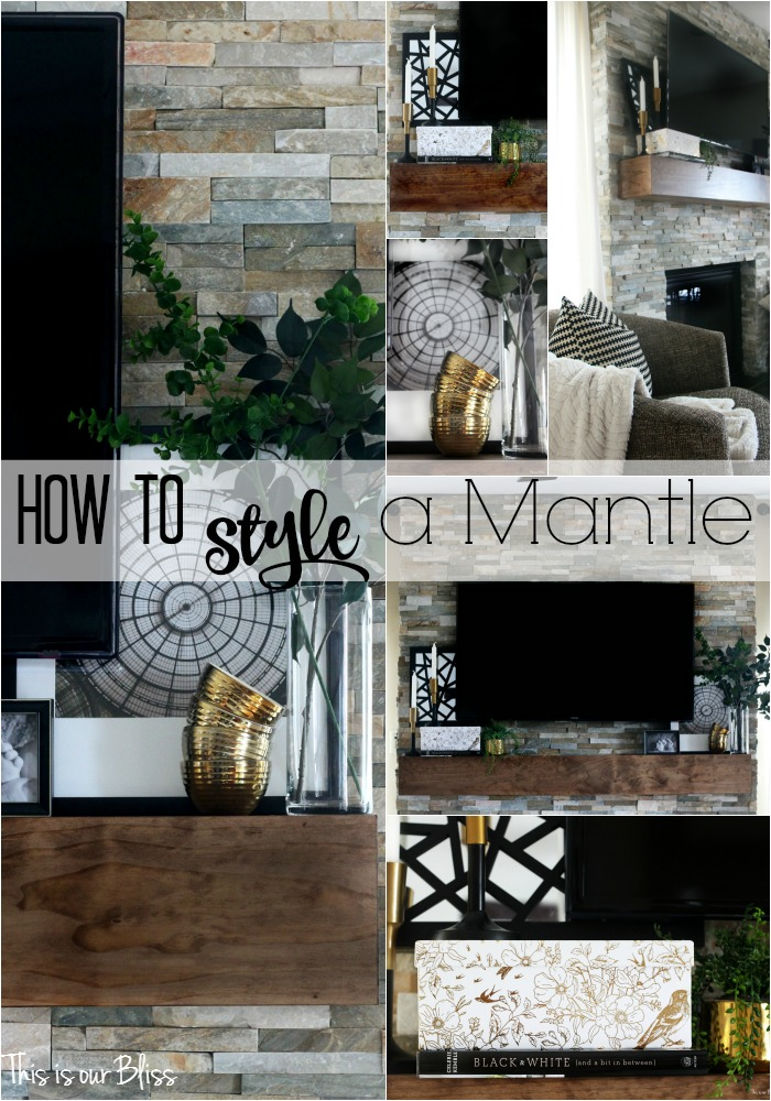 How to Style a Mantel | A Table Top Blog Hop