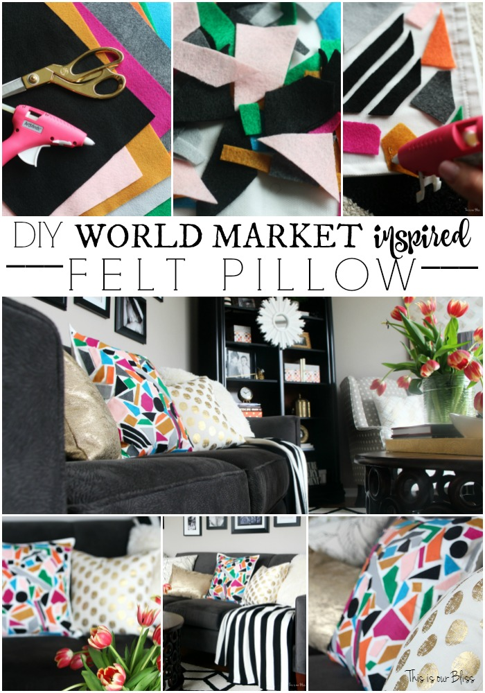 Inspired by DIY | World Market Inspired Pillow