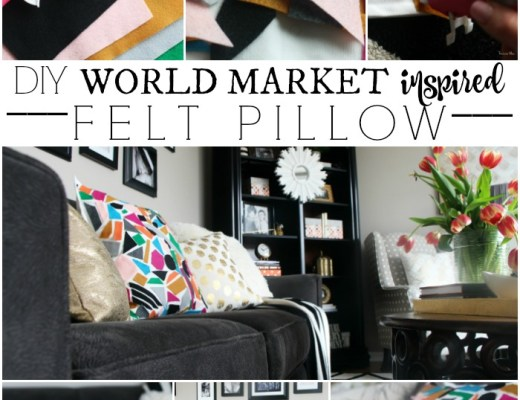 Knock it off DIY World Market Inspired Felt Pillow This is our Bliss www.thisisourbliss.com