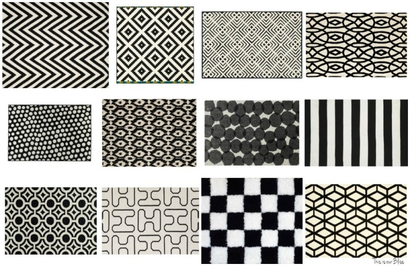12+ bold black and white rugs black and white geometric rugs This is our Bliss