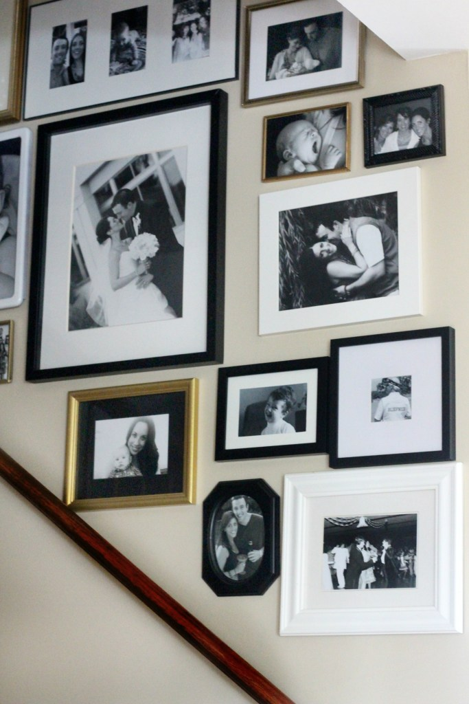 Stairway gallery wall This is our Bliss