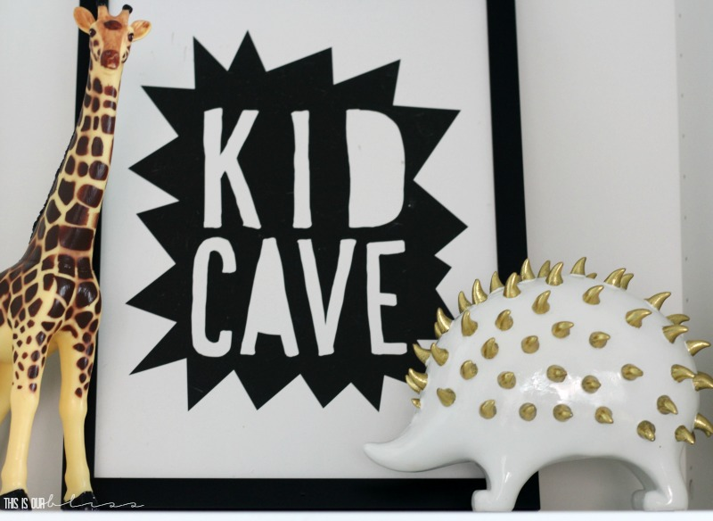 Stylish and Bold Modern Playroom | Eclectic Modern Safari space for kids | Neutral decor with pops of color | This is our Bliss