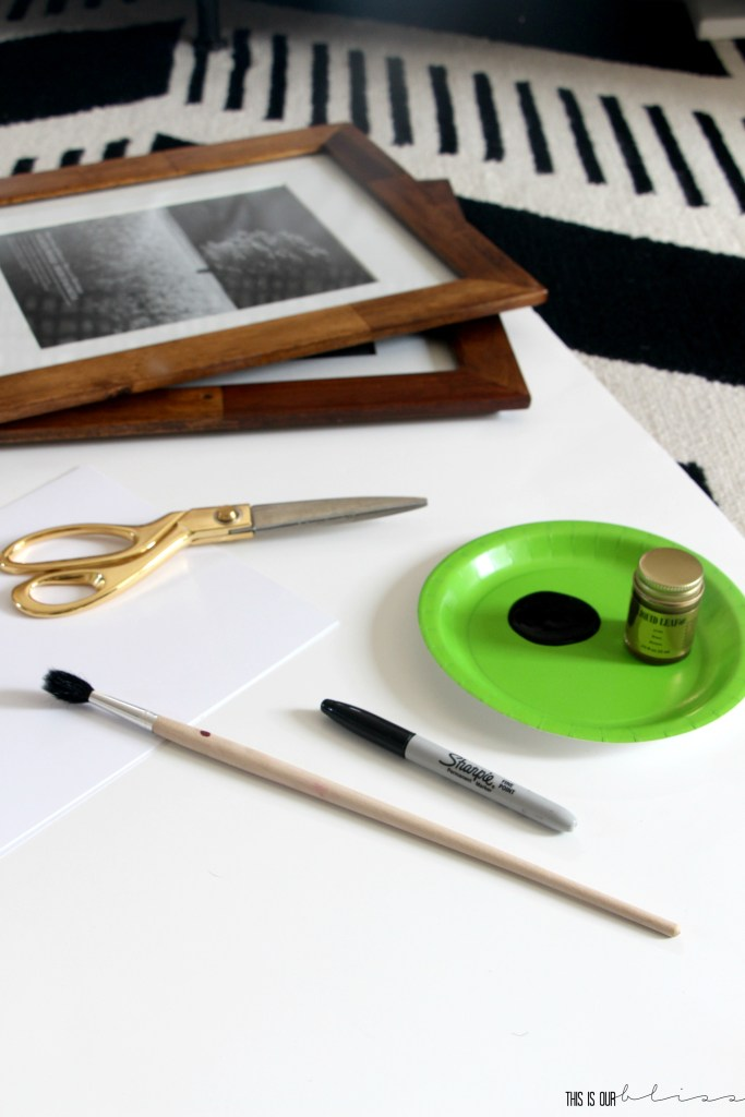 DIY Geometric Art | How to create Chic, Bold Art on Budget | This is our Bliss