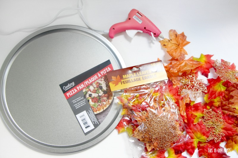 DIY Maple Leaf Charger Plate | Fall themed Decor | My Dollar Store DIY