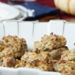 Bacon Stuffed Mushrooms - the best appetizer ever! Perfect for your holiday menu! #holidayappetizer #stuffedMushrooms