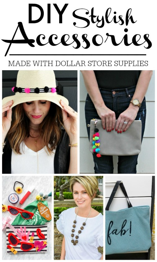 DIY Stylish Accessories made with Dollar store supplies - My Dollar Store DIY series April Edition
