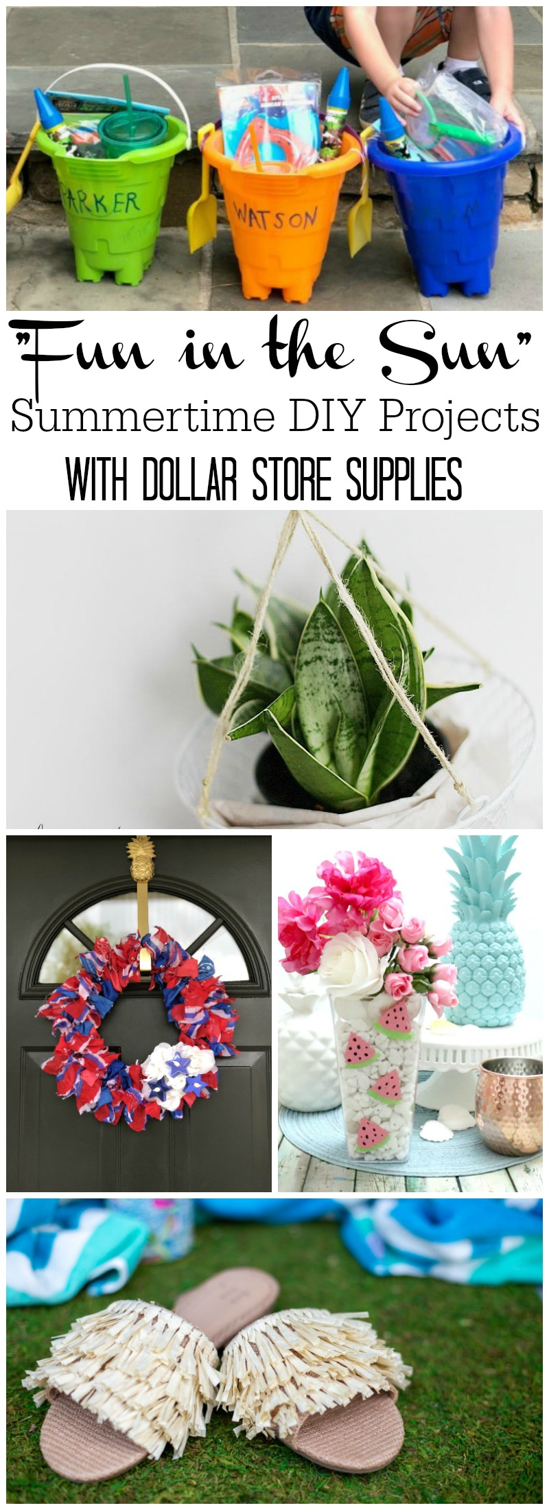 Fun in the Sun - Summertime DIY projects with Dollar Store Supplies