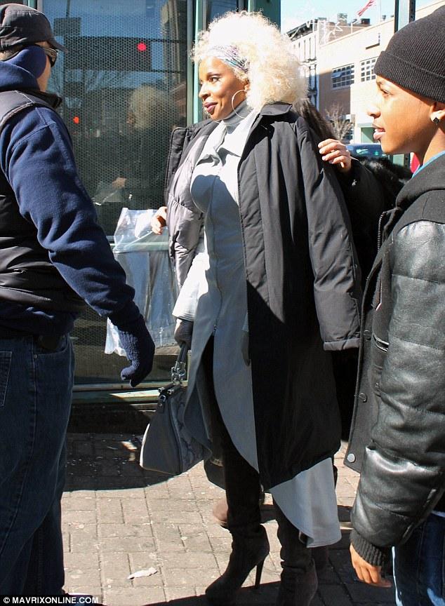Mary J Blige Shoots Black Nativity In NYC Photos