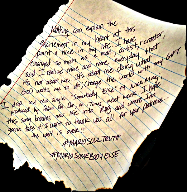 Mario letter to fans