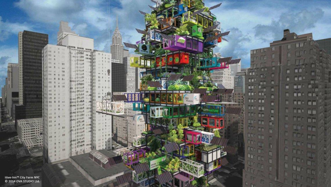 hive-inn city farm - shipping container urban farm - THOUGHTFUL