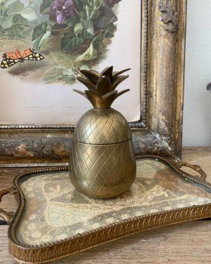 ancien ananas laiton vintage doré