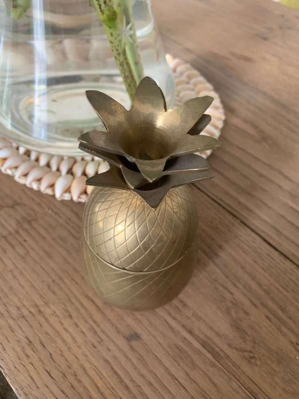 ananas laiton vintage