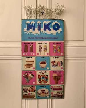 publicite miko glace vintage
