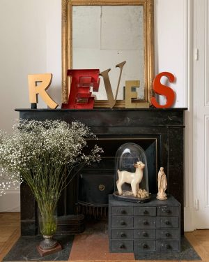 mot reves lettres enseigne vintage anciennes