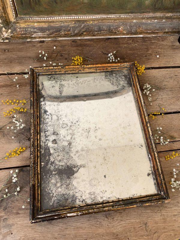 ancien miroir au mercure 19eme