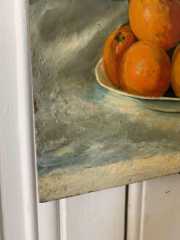 ancienne peinture à l'huile nature morte sur bois