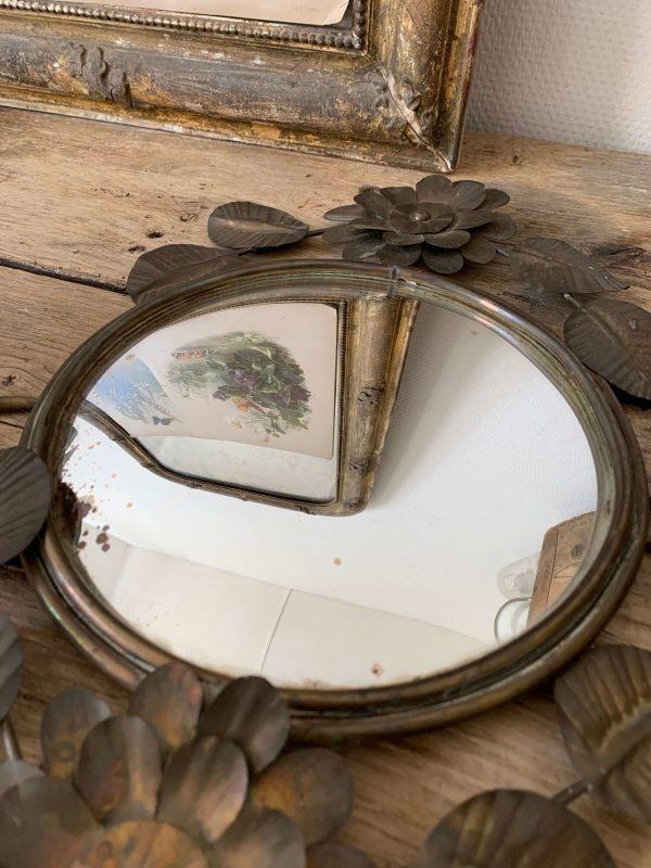 ancienne applique murale miroir convexe vintage