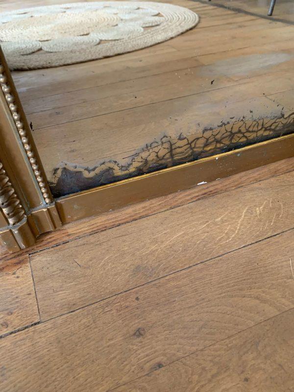 ancien miroir bois et stuc de style louis xvi