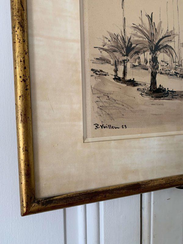 ancienne peinture de cannes par Roger Vuillem