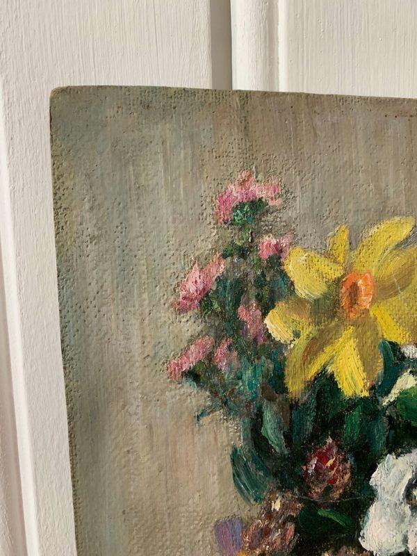 ancienne peinture à l'huile nature morte