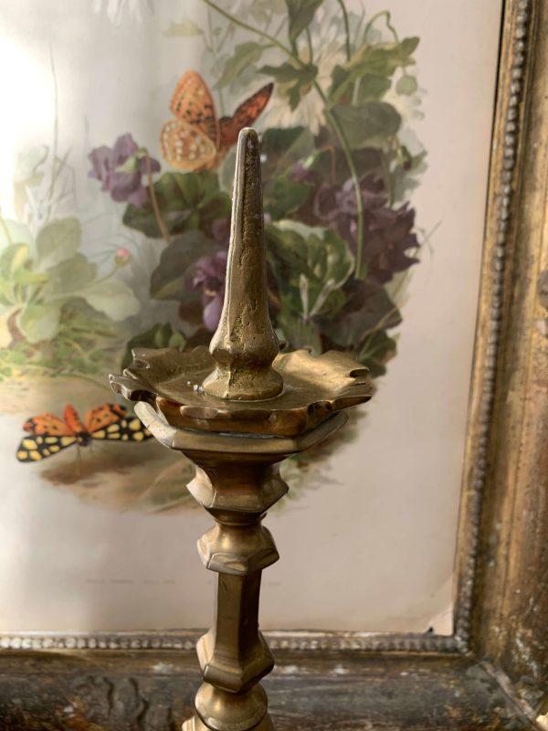 ancienne paire de pic cierges en bronze xixème