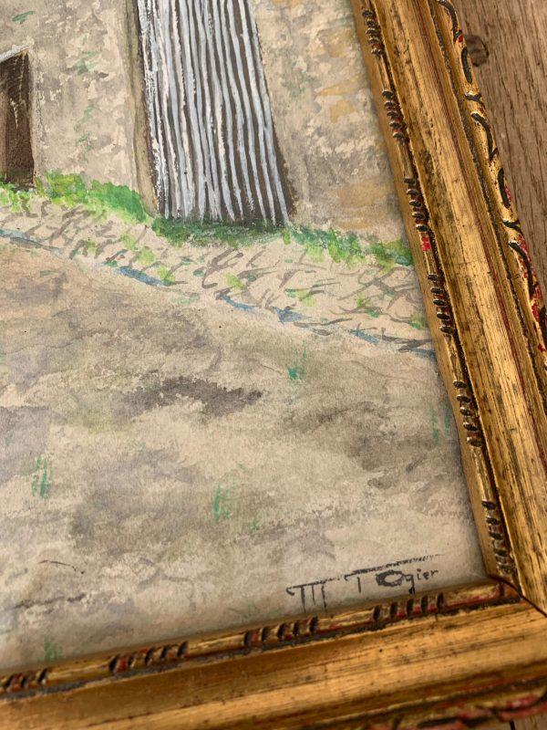 ancienne aquarelle animée rue homme