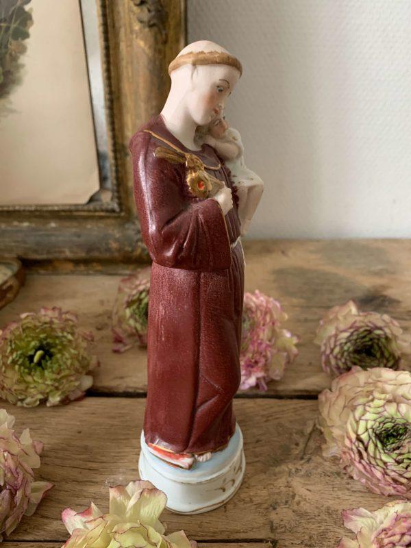 ancienne statue saint antoine de padoue biscuit