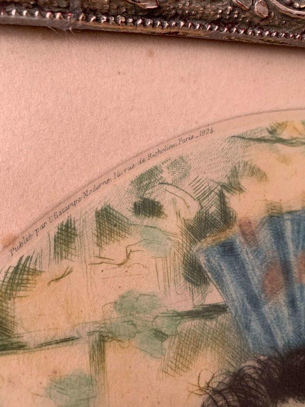 ancienne gravure art déco