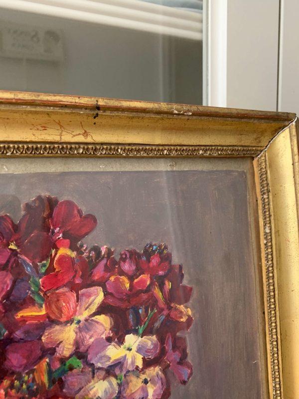 ancienne peinture de fleurs par marguerite beauzée reynaud
