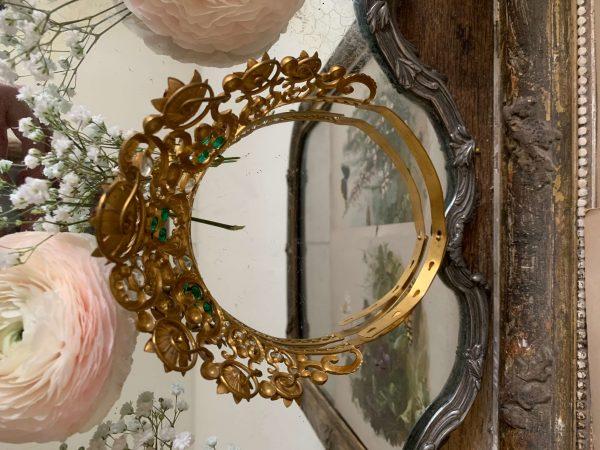 ancienne couronne de vierge en laiton xixeme
