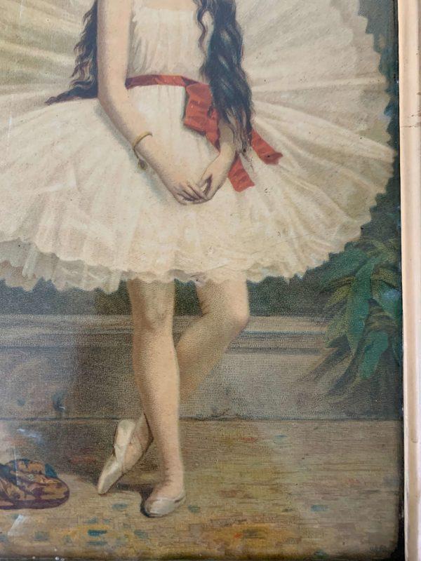 chromolithographie ancienne danse classique vers 1900