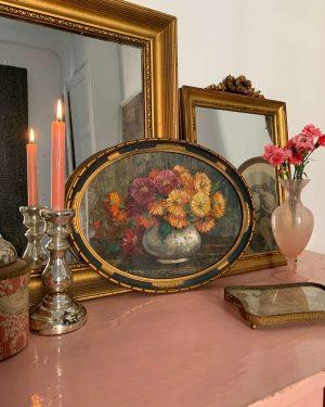 peinture de fleurs ancienne