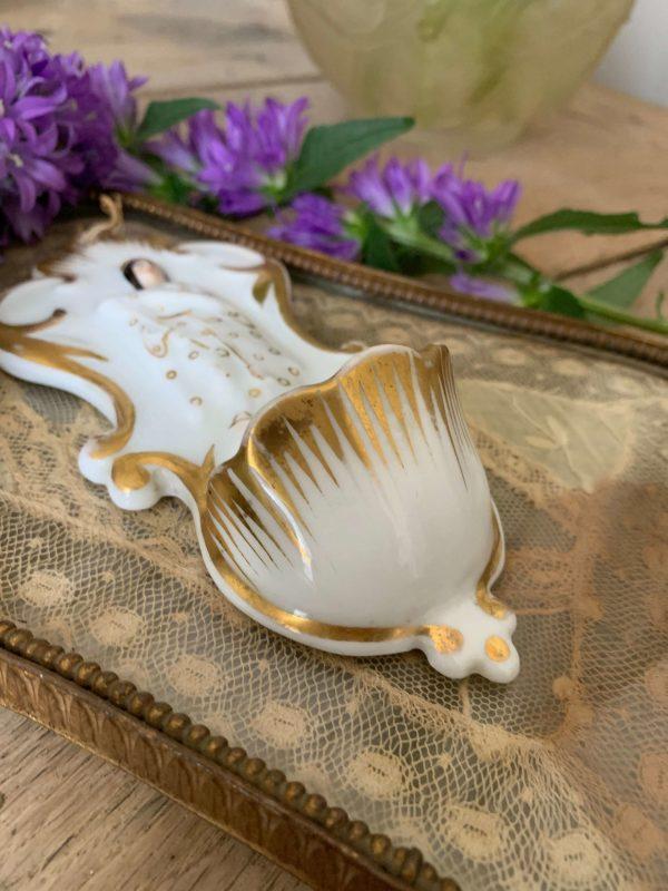 ancien benitier porcelaine de paris xixeme