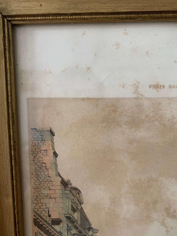 ancienne lithographie xixeme paris dans sa splendeur
