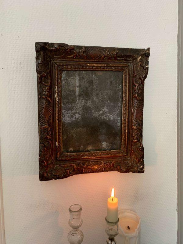 ancien miroir glace au mercure piquée xviiième siècle