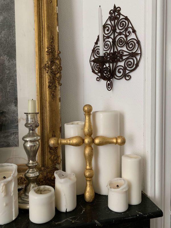 ancienne croix en bois doré xixeme