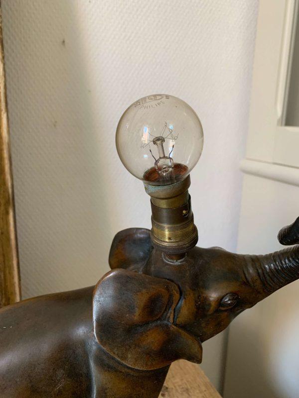 ancienne lampe éléphant régule art déco