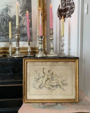 ancienne gravure anges details xixeme musiciens