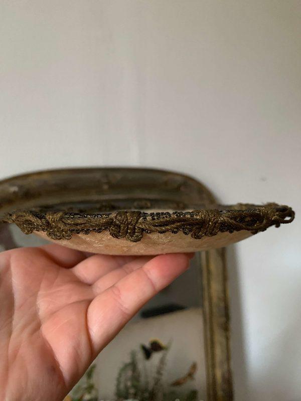 ancien vide poche coupelle dentelle vers 1900