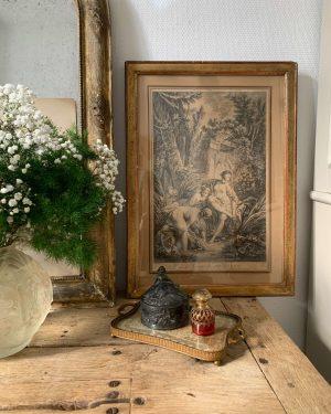 ancienne gravure de baigneuses xviiieme siècle