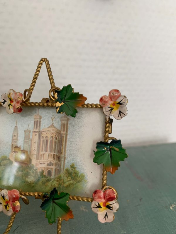 ancien cadre fleurs art nouveau