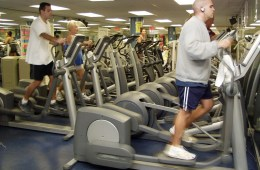 Man using elliptical