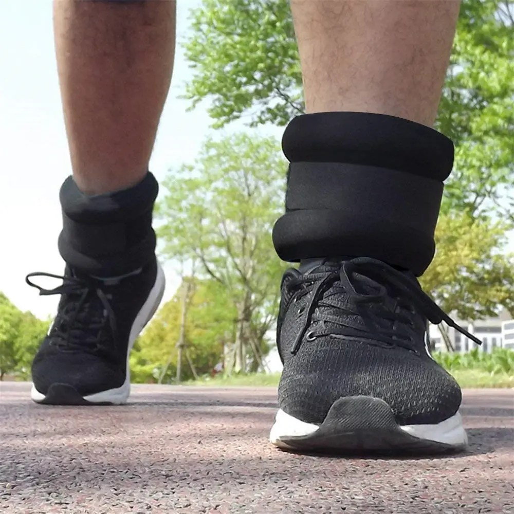 Walking with ankle weights on