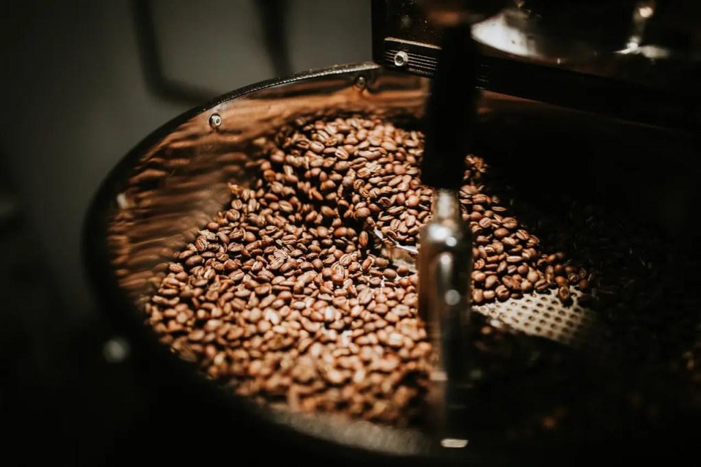 Caffeine being made