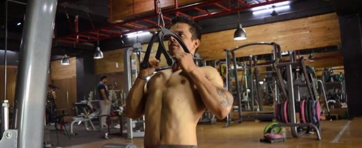 V bar pulldowns feature