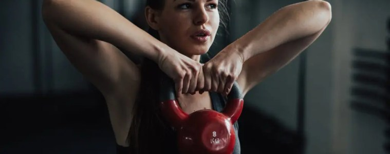 Build full body strength and explosivity with the kettlebell high pull