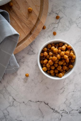 Crispy chickpeas for soup topping