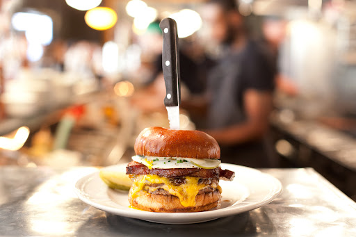 The burger at Au Cheval -- a favorite spot on our guide to eating in Chicago.
